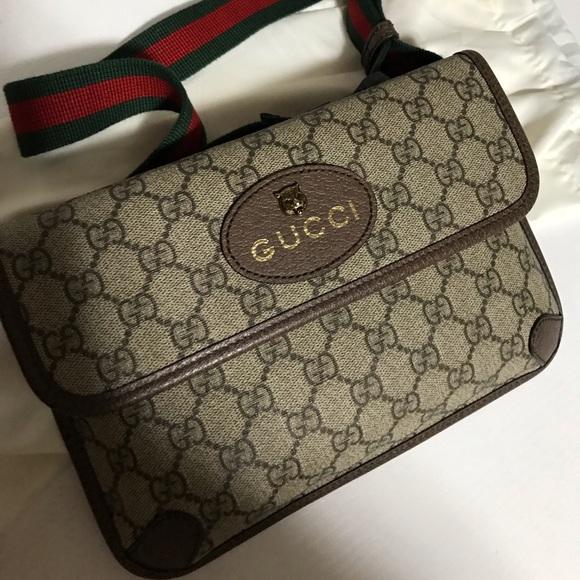 7dc34c4eb Bags | Gucci Supreme Monogram Neo Vintage Web Belt Bag | Poshmark